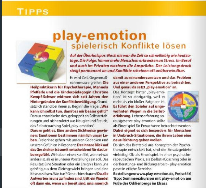 play-emotion im Elixier-Magazin