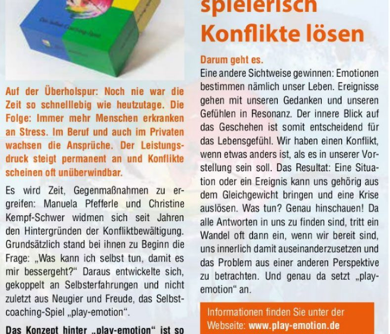 play-emotion im Lavida-Magazin Freiburg