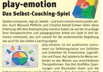 play-emotion in der Verbraucherpost September 2019